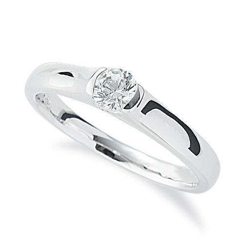 指輪 18金 ホワイトゴールド 天然石 側面にポイントメレ付き一粒リング 主石の直径約3.8mm ソリティア|K18WG 18k 貴金属 ジュエリー レディース メンズ