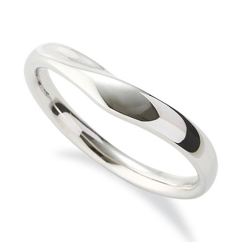 指輪 18金 ホワイトゴールド シンプルモダンなV字リング 幅3.4mm|K18WG 18k 貴金属 ジュエリー レディース メンズ