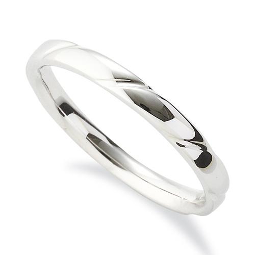 指輪 18金 ホワイトゴールド 斜めの彫り込みデザインリング 幅2.4mm|K18WG 18k 貴金属 ジュエリー レディース メンズ