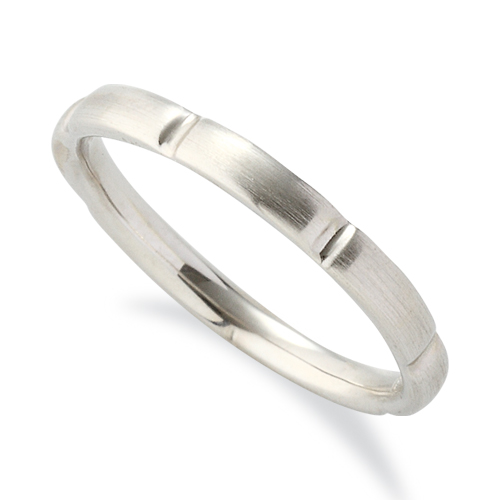指輪 18金 ホワイトゴールド シンプルモダンなデザインリング 幅2.3mm|K18WG 18k 貴金属 ジュエリー レディース メンズ