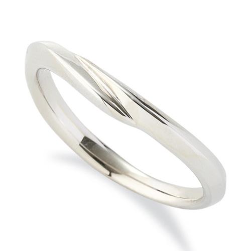 指輪 18金 ホワイトゴールド シンプルモダンなV字リング 幅3.0mm|K18WG 18k 貴金属 ジュエリー レディース メンズ