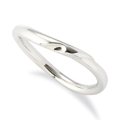 指輪 18金 ホワイトゴールド 窪みのあるウェーブリング 幅2.2mm|K18WG 18k 貴金属 ジュエリー レディース メンズ
