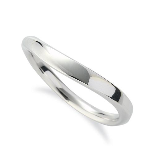指輪 18金 ホワイトゴールド シンプルモダンなウェーブリング 幅3.1mm K18WG 18k 貴金属 ジュエリー レディース メンズ