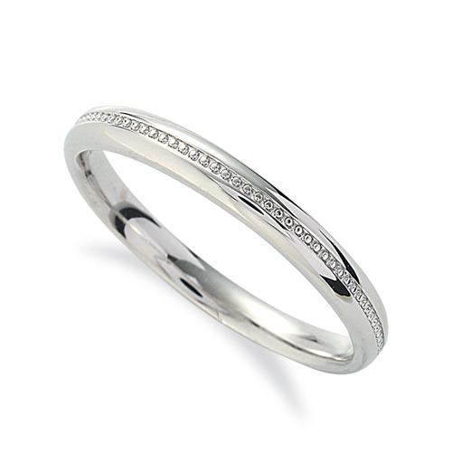指輪 18金 ホワイトゴールド 上品なミル打ちラインリング 幅2.7mm|K18WG 18k 貴金属 ジュエリー レディース メンズ