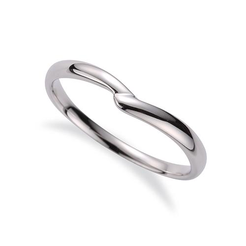 指輪 18金 ホワイトゴールド シンプルモダンなV字リング 幅2.4mm|K18WG 18k 貴金属 ジュエリー レディース メンズ