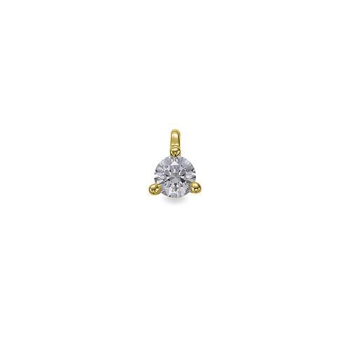 ペンダントトップ 18金 イエローゴールド 天然石 一粒ペンダント 主石の直径約3.0mm 二段腰 三本爪留め ペンダントヘッドのみ|K18YG 18k 貴金属 ジュエリー レディース メンズ
