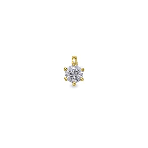 ペンダントトップ 18金 イエローゴールド 天然石 一粒ペンダント 主石の直径約4.4mm 二段腰 六本爪留め ペンダントヘッドのみ|K18YG 18k 貴金属 ジュエリー レディース メンズ