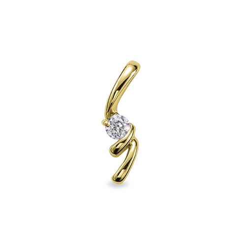 ペンダントトップ 18金 イエローゴールド 天然石 スパイラルラインの一粒ペンダント 主石の直径約5.2mm ペンダントヘッドのみ|K18YG 18k 貴金属 ジュエリー レディース メンズ