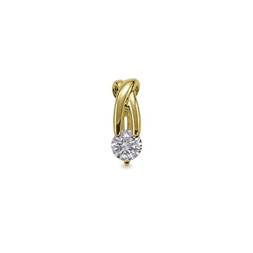 ペンダントトップ 18金 イエローゴールド 天然石 ウェーブラインの一粒ペンダント 主石の直径約3.8mm ペンダントヘッドのみ|K18YG 18k 貴金属 ジュエリー レディース メンズ