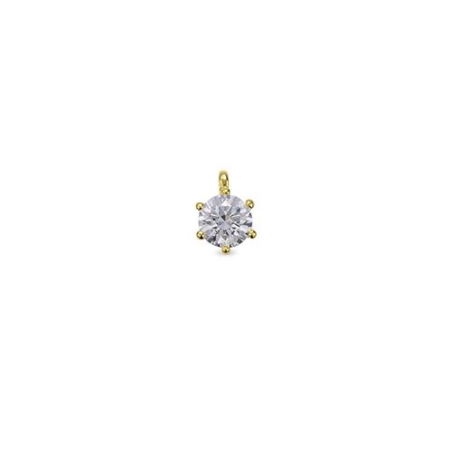 ペンダントトップ 18金 イエローゴールド 天然石 一粒ペンダント 主石の直径約4.8mm 六本爪留め ペンダントヘッドのみ|K18YG 18k 貴金属 ジュエリー レディース メンズ