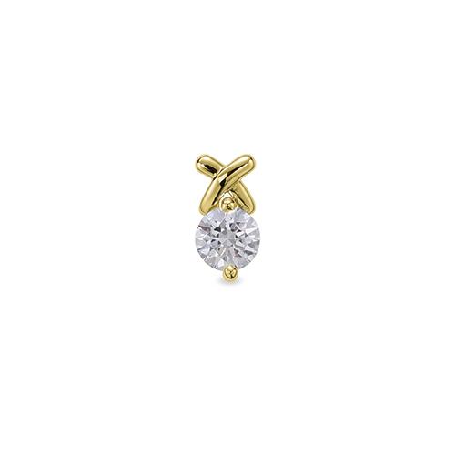 主石の種類が選べる、高級感が漂う18金と天然石のペンダントトップ ペンダントトップ 18金 イエローゴールド 天然石 クロスラインの一粒ペンダント 主石の直径約5.2mm 二本爪留め ペンダントヘッドのみ|K18YG 18k 貴金属 ジュエリー レディース メンズ