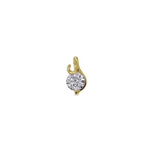 ペンダントトップ 18金 イエローゴールド 天然石 Y イニシャルモチーフの一粒ペンダント 主石の直径約4.4mm ペンダントヘッドのみ|K18YG 18k 貴金属 ジュエリー レディース メンズ