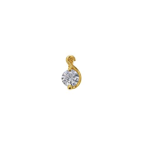 ペンダントトップ 18金 イエローゴールド 天然石 S イニシャルモチーフの一粒ペンダント 主石の直径約4.4mm ペンダントヘッドのみ|K18YG 18k 貴金属 ジュエリー レディース メンズ