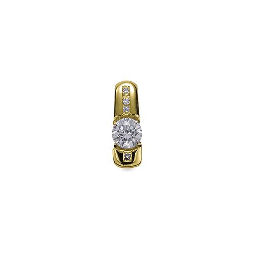 ペンダントトップ 18金 イエローゴールド 天然石 メレがラインになった一粒ペンダント 主石の直径約4.4mm 四本爪留め ペンダントヘッドのみ|K18YG 18k 貴金属 ジュエリー レディース メンズ