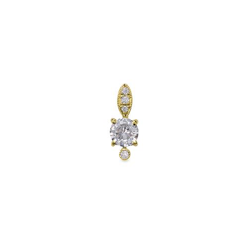 主石の種類が選べる、高級感が漂う18金と天然石のペンダントトップ ペンダントトップ 18金 イエローゴールド 天然石 メレ周りミル打ちペンダント 主石の直径約3.8mm 四本爪留め ペンダントヘッドのみ|K18YG 18k 貴金属 ジュエリー レディース メンズ