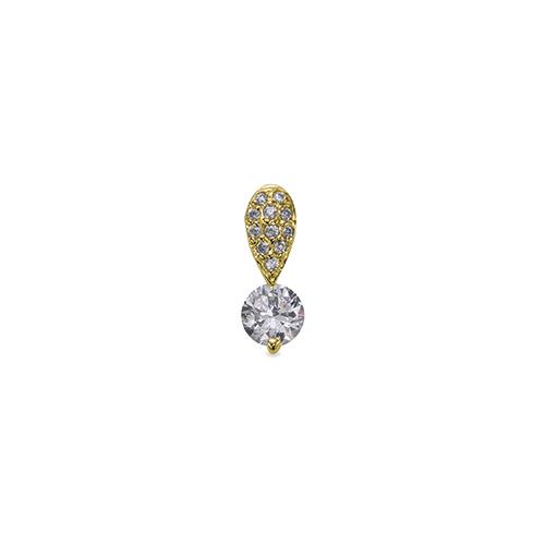 ペンダントトップ 18金 イエローゴールド 天然石 パヴェバチカンの一粒ペンダント 主石の直径約5.2mm 二本爪留め ペンダントヘッドのみ|K18YG 18k 貴金属 ジュエリー レディース メンズ