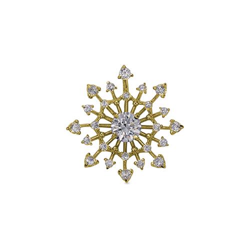 ペンダントトップ 18金 イエローゴールド 天然石 透かし取り巻きペンダント 主石の直径約4.4mm 四本爪留め ペンダントヘッドのみ K18YG 18k 貴金属 ジュエリー レディース メンズ