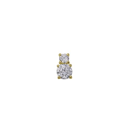 ペンダントトップ 18金 イエローゴールド 天然石 二粒ペンダント 主石の直径約4.4mm 四本爪留め ペンダントヘッドのみ|K18YG 18k 貴金属 ジュエリー レディース メンズ