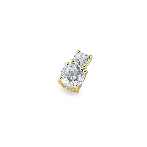 ペンダントトップ 18金 イエローゴールド 天然石 二粒ペンダント 主石の直径約5.2mm 四本爪留め ペンダントヘッドのみ|K18YG 18k 貴金属 ジュエリー レディース メンズ