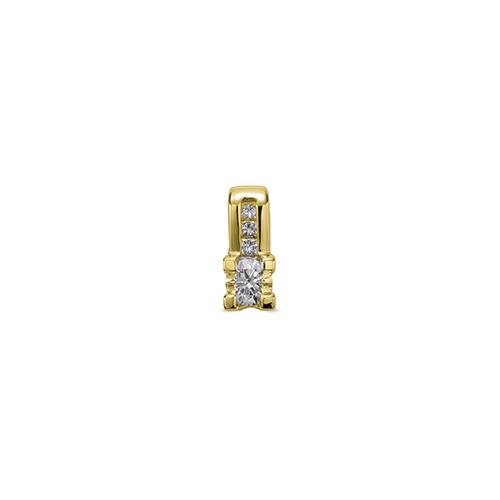 ペンダントトップ 18金 イエローゴールド 天然石 バゲットメレ付きバチカンの一粒ペンダント 主石の直径約4.4mm 四角爪 四本爪留め ペンダントヘッドのみ|K18YG 18k 貴金属 ジュエリー レディース メンズ