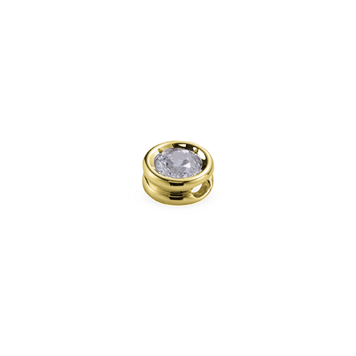 ペンダントトップ 18金 イエローゴールド 天然石 一粒スルーペンダント 主石の直径約3.8mm ちょこ留め ペンダントヘッドのみ|K18YG 18k 貴金属 ジュエリー レディース メンズ