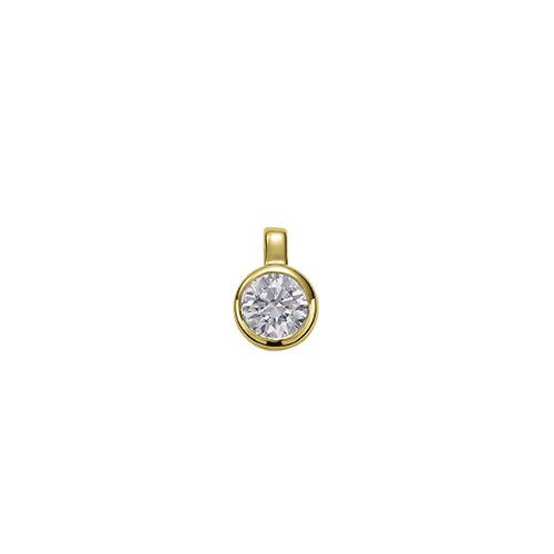 ペンダントトップ 18金 イエローゴールド 天然石 一粒ペンダント 主石の直径約3.8mm 二段腰 伏せ込み ペンダントヘッドのみ|K18YG 18k 貴金属 ジュエリー レディース メンズ