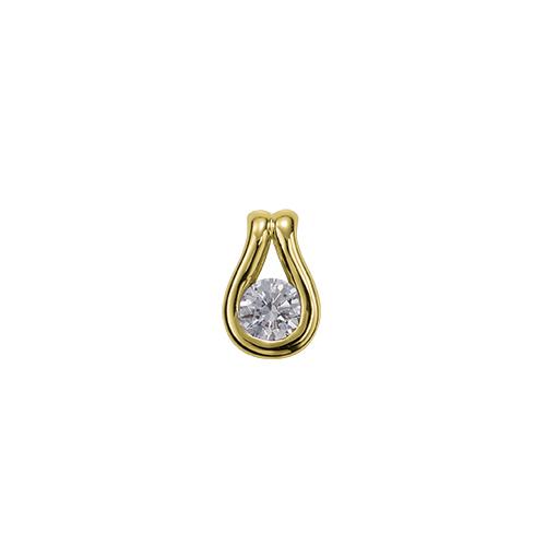 ペンダントトップ 18金 イエローゴールド 天然石 ティアドロップモチーフの一粒ペンダント 主石の直径約3.8mm レール留め ペンダントヘッドのみ|K18YG 18k 貴金属 ジュエリー レディース メンズ