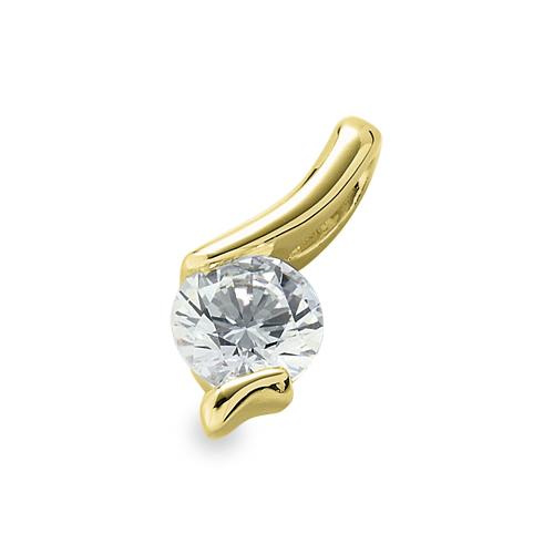 ペンダントトップ 18金 イエローゴールド 天然石 ウェーブラインの一粒ペンダント 主石の直径約3.0mm レール留め ペンダントヘッドのみ|K18YG 18k 貴金属 ジュエリー レディース メンズ