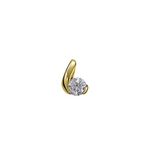 ペンダントトップ 18金 イエローゴールド 天然石 ウェーブラインの一粒ペンダント 主石の直径約4.4mm レール留め ペンダントヘッドのみ|K18YG 18k 貴金属 ジュエリー レディース メンズ