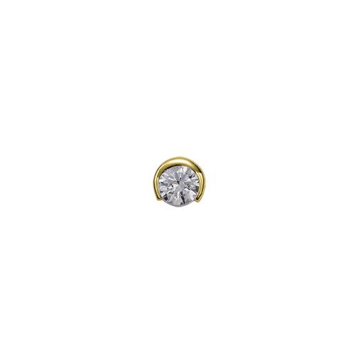 ペンダントトップ 18金 イエローゴールド 天然石 一粒スルーペンダント 主石の直径約4.8mm レール留め ペンダントヘッドのみ|K18YG 18k 貴金属 ジュエリー レディース メンズ