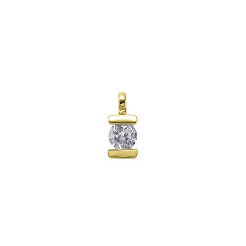 ペンダントトップ 18金 イエローゴールド 天然石 一粒ペンダント 主石の直径約3.8mm レール留め ペンダントヘッドのみ|K18YG 18k 貴金属 ジュエリー レディース メンズ