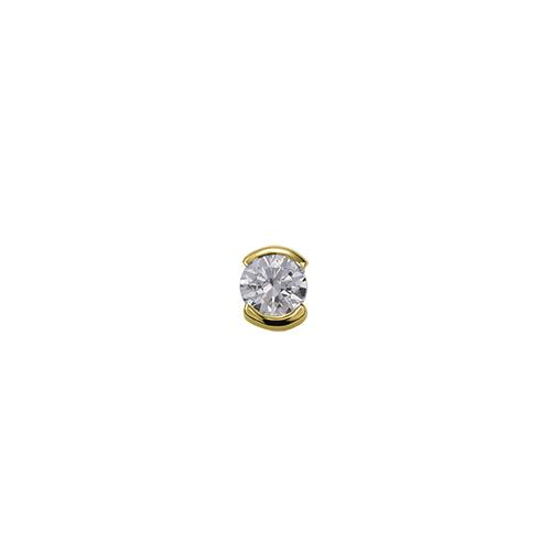 ペンダントトップ 18金 イエローゴールド 天然石 一粒スルーペンダント 主石の直径約5.2mm レール留め ペンダントヘッドのみ|K18YG 18k 貴金属 ジュエリー レディース メンズ