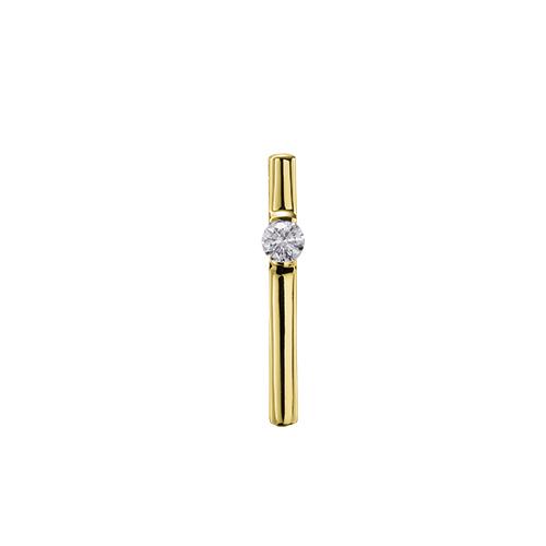 ペンダントトップ 18金 イエローゴールド 天然石 一粒スティックペンダント 主石の直径約3.8mm レール留め ペンダントヘッドのみ|K18YG 18k 貴金属 ジュエリー レディース メンズ