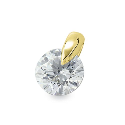ペンダントトップ 18金 イエローゴールド ダイヤモンド 一粒ペンダント 主石の直径約3.0mm 一点留め ペンダントヘッドのみ|K18YG 18k 貴金属 ジュエリー レディース メンズ