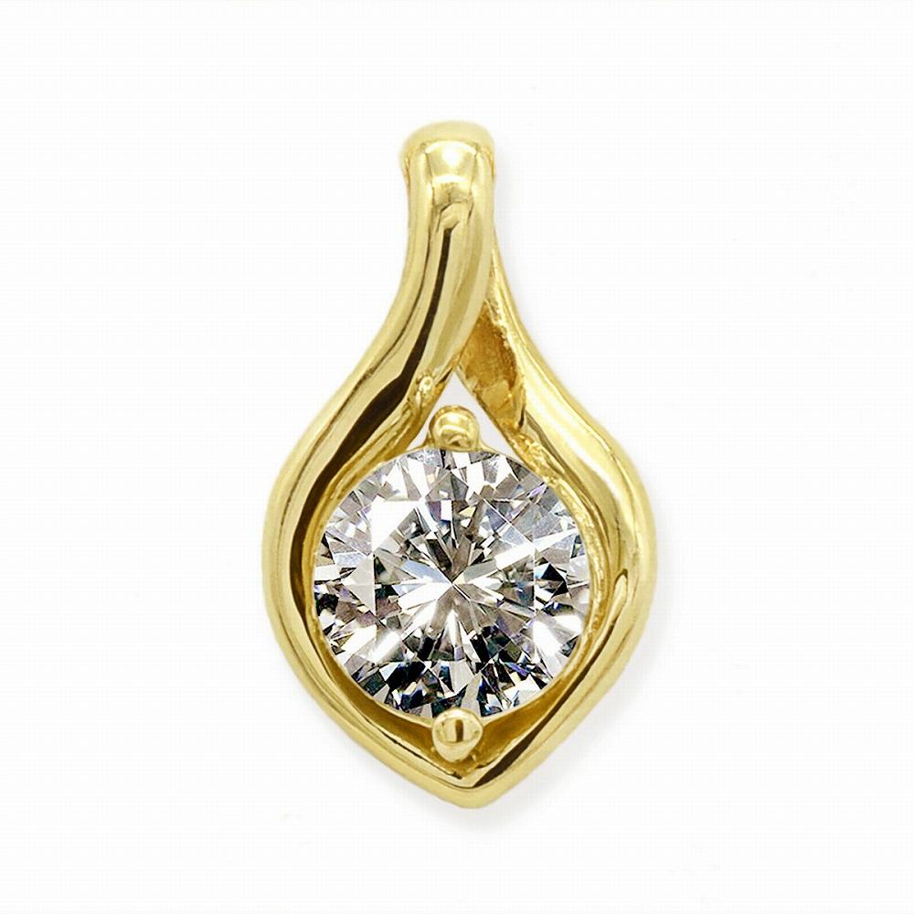ペンダントトップ 18金 イエローゴールド 天然石 一粒ペンダント 主石の直径約5 2mm ペンダントヘッドのみ|K18YG 18k 貴金属 ジュエリー レディース メンズhdBtQrxsC