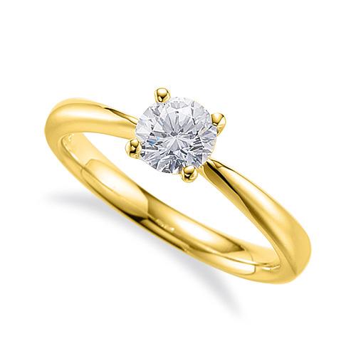 指輪 18金 イエローゴールド 天然石 一粒リング 主石の直径約5.2mm ソリティア しぼり腕 四本爪留め K18YG 18k 貴金属 ジュエリー レディース メンズ
