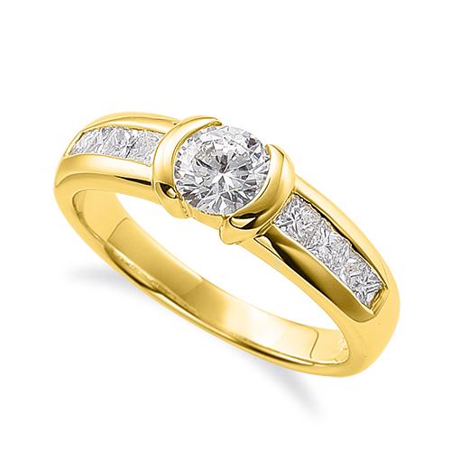 新入荷 指輪 18金 イエローゴールド 天然石 バゲットメレのサイド一文字リング 主石の直径約5.2mm|K18YG 18k 貴金属 ジュエリー レディース メンズ 母の日 プレゼント ギフト 無料ラッピング, 温海町 ca43c620