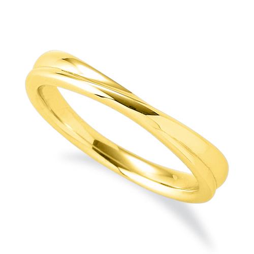 指輪 18金 イエローゴールド シンプルモダンなウェーブリング 幅3.4mm|K18YG 18k 貴金属 ジュエリー レディース メンズ