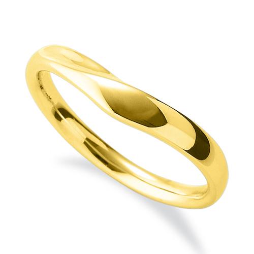 指輪 18金 イエローゴールド シンプルモダンなV字リング 幅3.4mm|K18YG 18k 貴金属 ジュエリー レディース メンズ