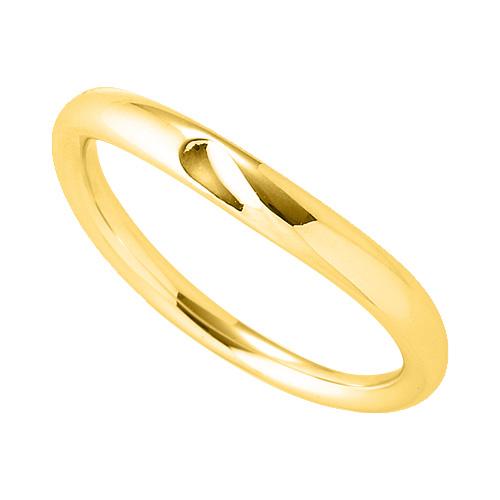 指輪 18金 イエローゴールド 窪みのあるV字リング 幅3.0mm|K18YG 18k 貴金属 ジュエリー レディース メンズ