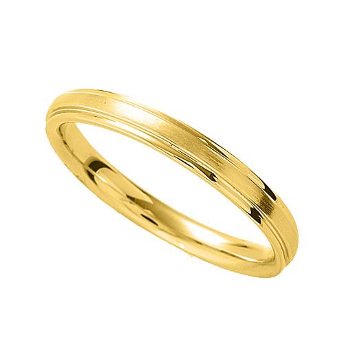 指輪 18金 イエローゴールド シンプルな段付きリング 幅2.6mm|K18YG 18k 貴金属 ジュエリー レディース メンズ