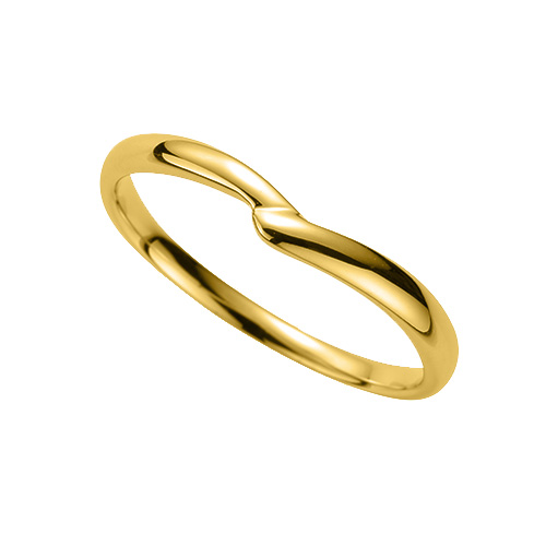 指輪 18金 イエローゴールド シンプルモダンなV字リング 幅2.4mm|K18YG 18k 貴金属 ジュエリー レディース メンズ
