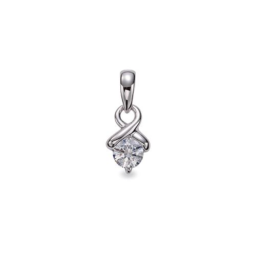 Jewels By Lux 14K Yellow Gold .03CTW Diamond Cross Pendant