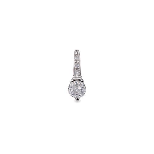 ペンダントトップ PT900 プラチナ 天然石 メレ付きバチカンの一粒ペンダント 主石の直径約3.8mm レール留め ペンダントヘッドのみ|900pt 貴金属 ジュエリー レディース メンズ