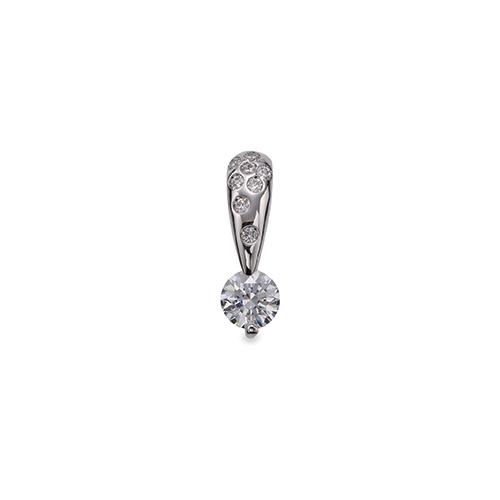 ペンダントトップ PT900 プラチナ 天然石 メレ付きバチカンの一粒ペンダント 主石の直径約4.4mm 二本爪留め ペンダントヘッドのみ|900pt 貴金属 ジュエリー レディース メンズ