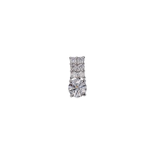 ペンダントトップ PT900 プラチナ 天然石 メレ付きバチカンの一粒ペンダント 主石の直径約4.4mm 四本爪留め ペンダントヘッドのみ 900pt 貴金属 ジュエリー レディース メンズ