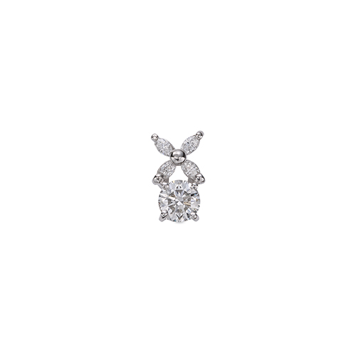 ペンダントトップ PT900 プラチナ 天然石 マーキスメレの花モチーフが付いた一粒ペンダント 主石の直径約3.8mm 四本爪留め ペンダントヘッドのみ|900pt 貴金属 ジュエリー レディース メンズ