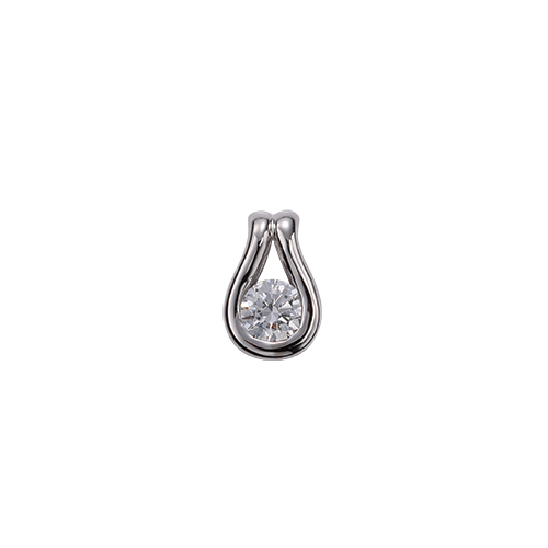 ペンダントトップ PT900 プラチナ 天然石 ティアドロップモチーフの一粒ペンダント 主石の直径約4.4mm レール留め ペンダントヘッドのみ|900pt 貴金属 ジュエリー レディース メンズ