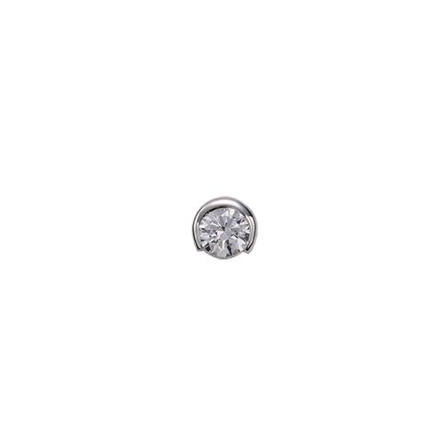 ペンダントトップ PT900 プラチナ 天然石 一粒スルーペンダント 主石の直径約4.8mm レール留め ペンダントヘッドのみ|900pt 貴金属 ジュエリー レディース メンズ
