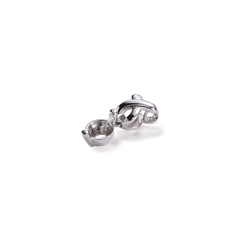 ペンダントトップ PT900 プラチナ 天然石 ウェーブラインの一粒ペンダント 主石の直径約5 2mm 二本爪留め ペンダントヘッドのみ|900pt 貴金属 ジュエリー レディース メンズjRLA54